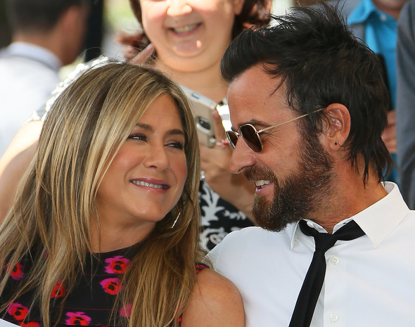Jennifer Aniston y Justin Theroux en julio de 2017.