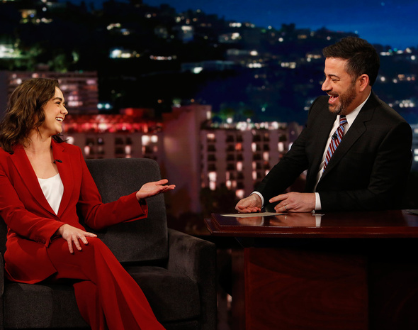 Maisie Williams en el programa de Jimmy Kimmel.