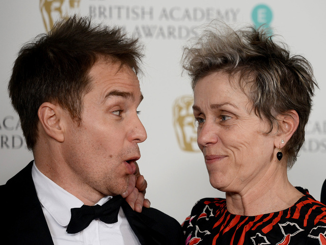 Sam Rockwell y Frances McDormand.